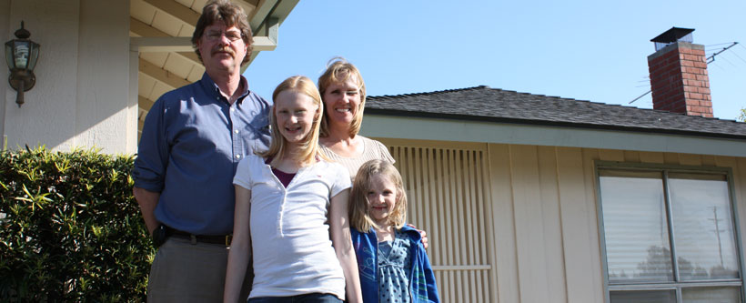The Hughart family at home in Ventura