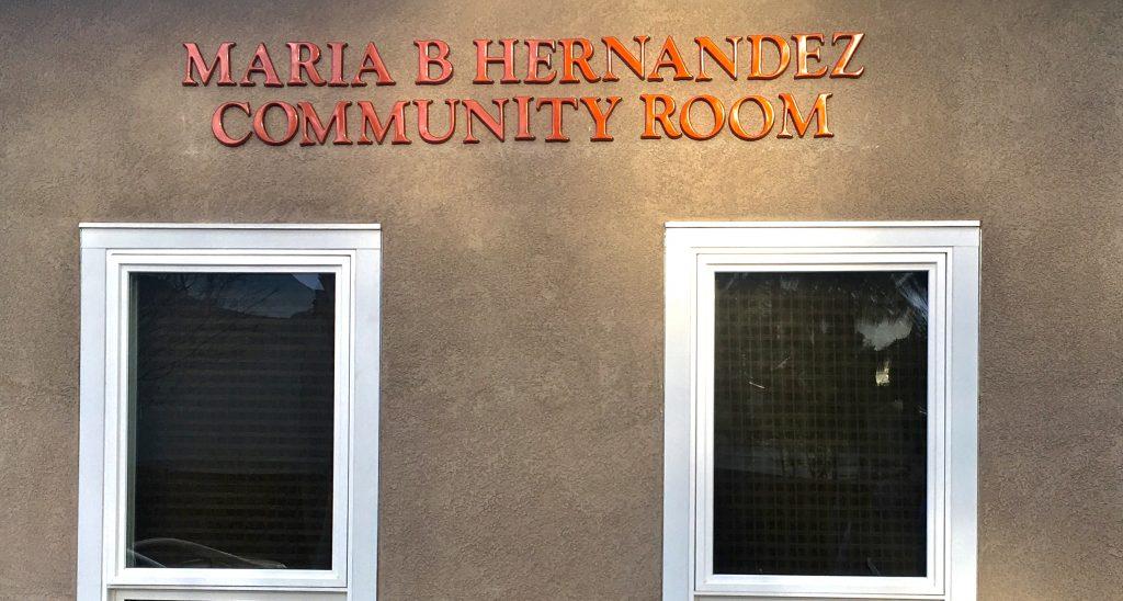 Community Room named after Maria Hernandez