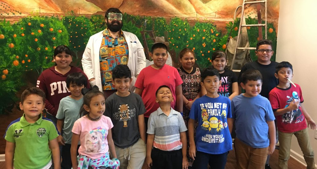 Cabrillo children experiment with Mad Science