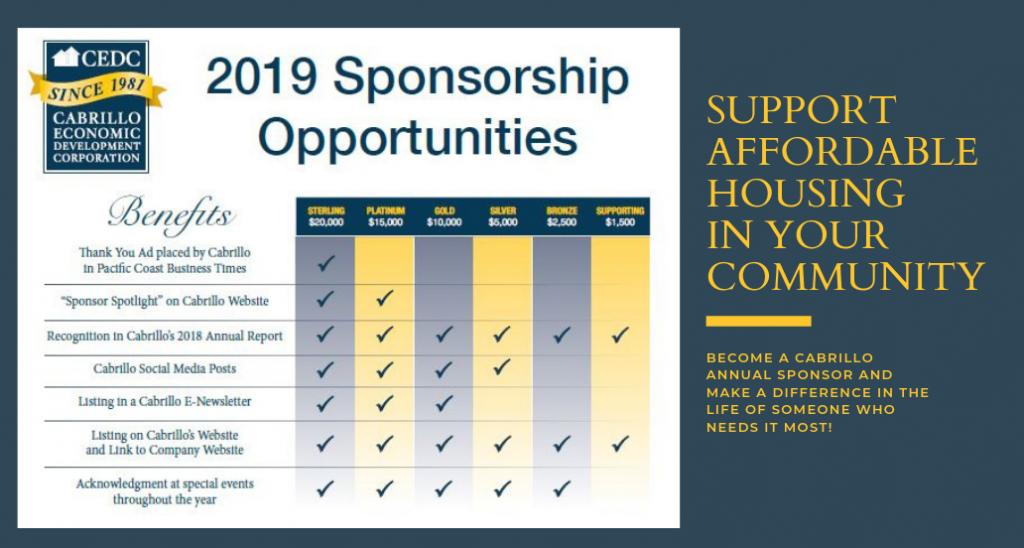 2019 Sponsorship info