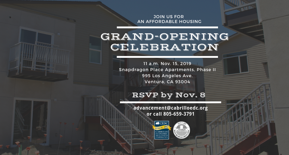 Cabrillo plans grand opening for Ventura affordable housing development