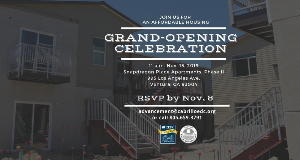 Cabrillo planea gran inauguración de complejo residencial asequible en Ventura