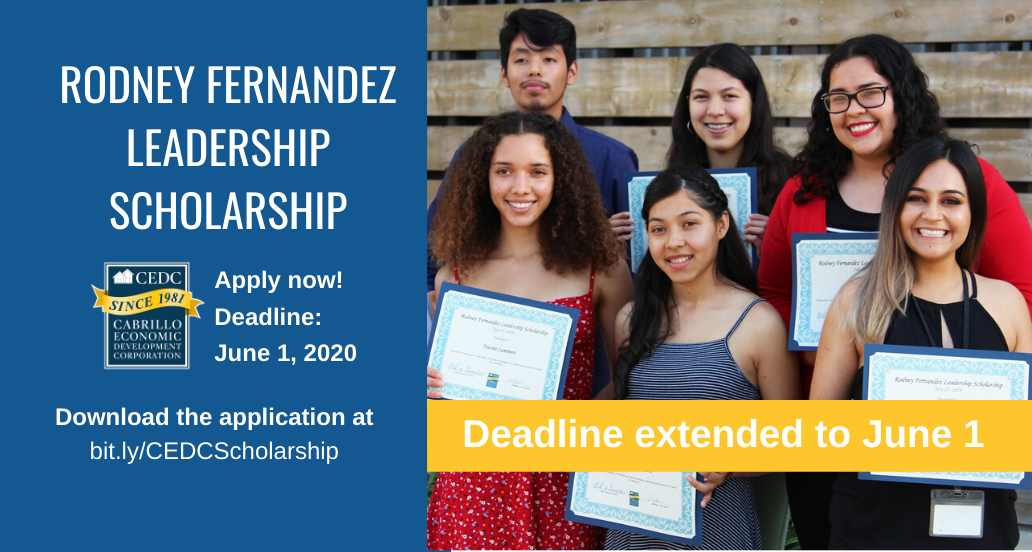Scholarship Application deadline extended to June 1